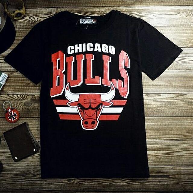 reputable site ea2ea 228d8 🔔 Chicago Bulls T-Shirt, Men's Fashion on Carousell
