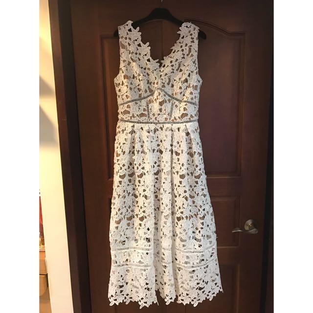 全新 Le polka 鉤花蕾絲洋裝