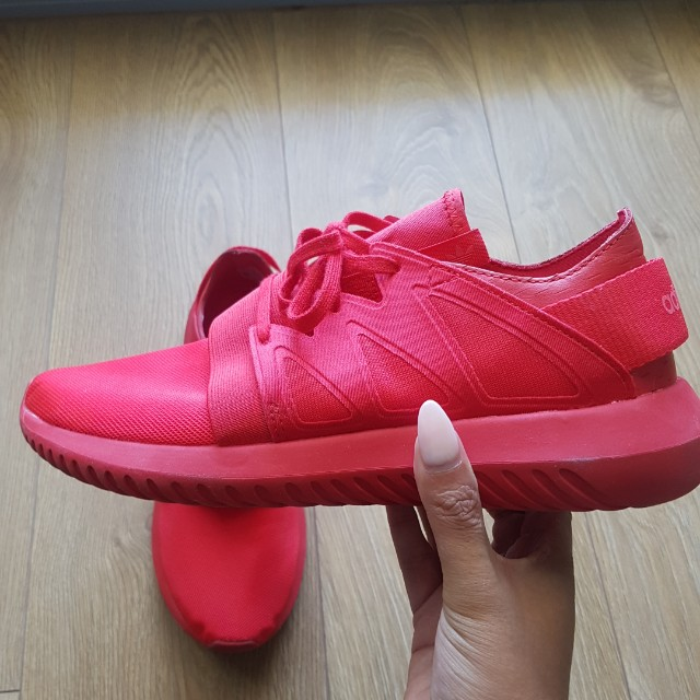 Adidas Red Tubular - Womens Size 8