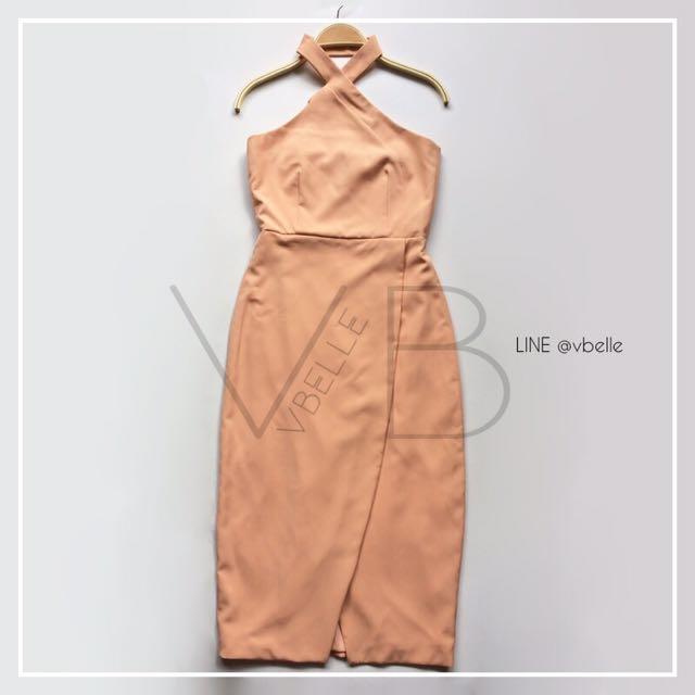 Adory halterneck midi dress