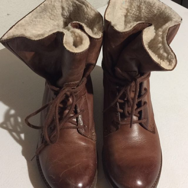 Aldo Boots In Cognac Colour
