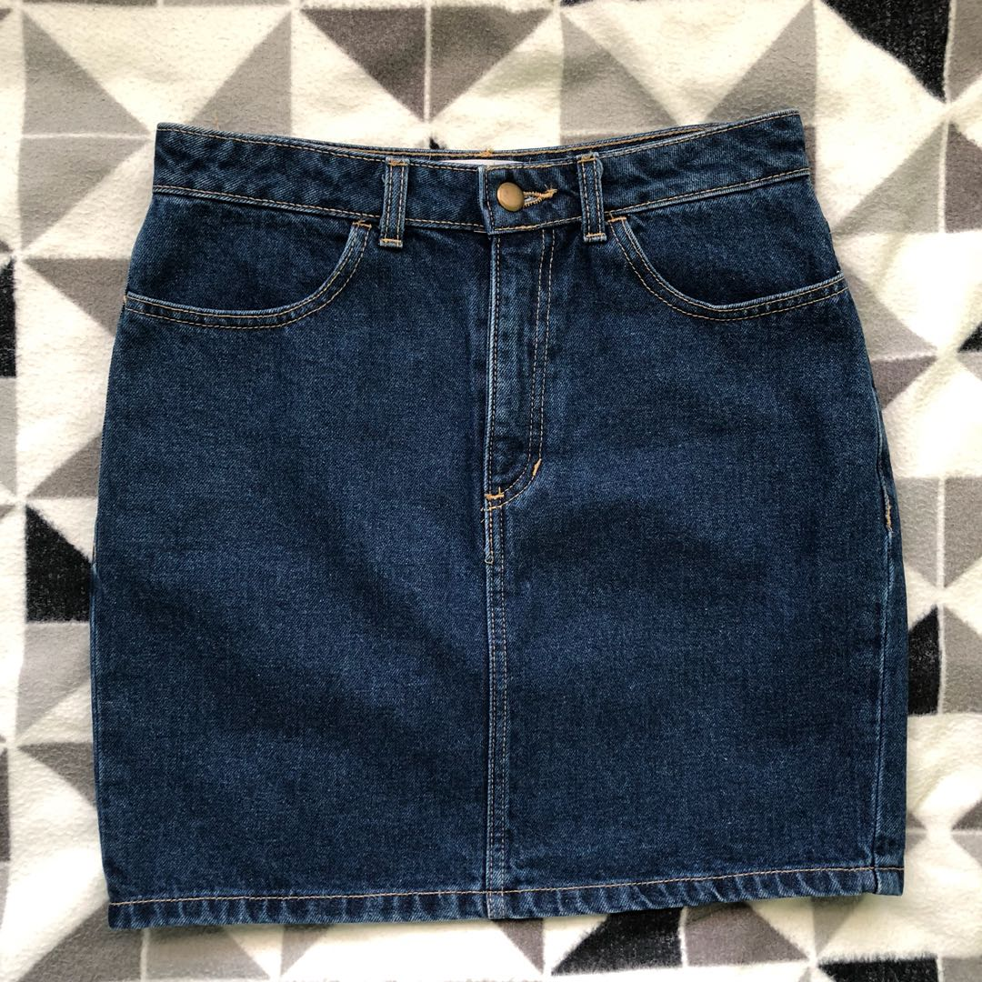 American Apparel Denim H line skirt
