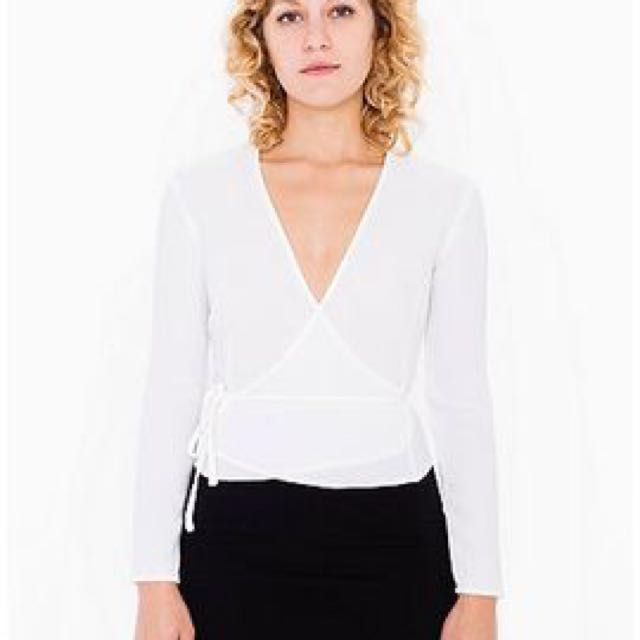 American Apparel Self Tie Wrap Top