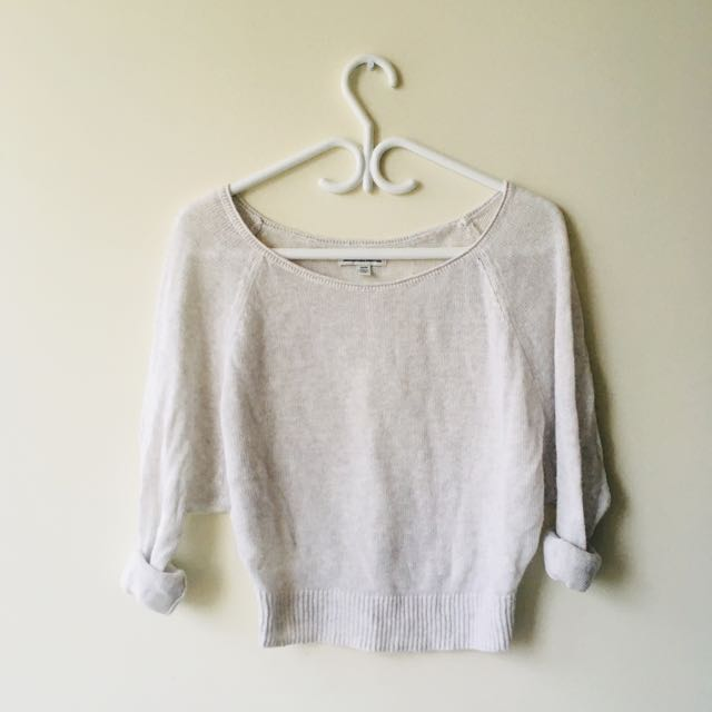 American Eagle Knit Cropped Sweater
