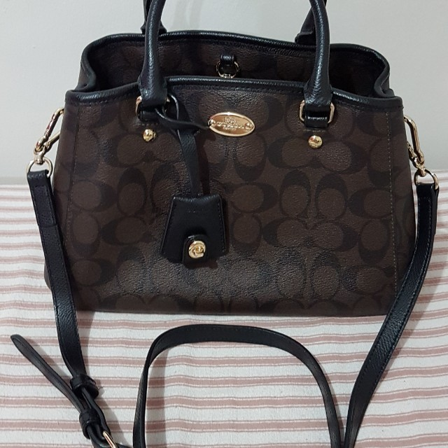 b2aafc8d2 Authentic Coach Signature Small Margo Carryall, Women's Fashion ...