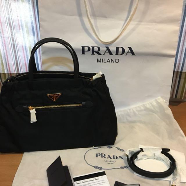 9a198c142d Authentic Prada Tessuto Bag (Nero)