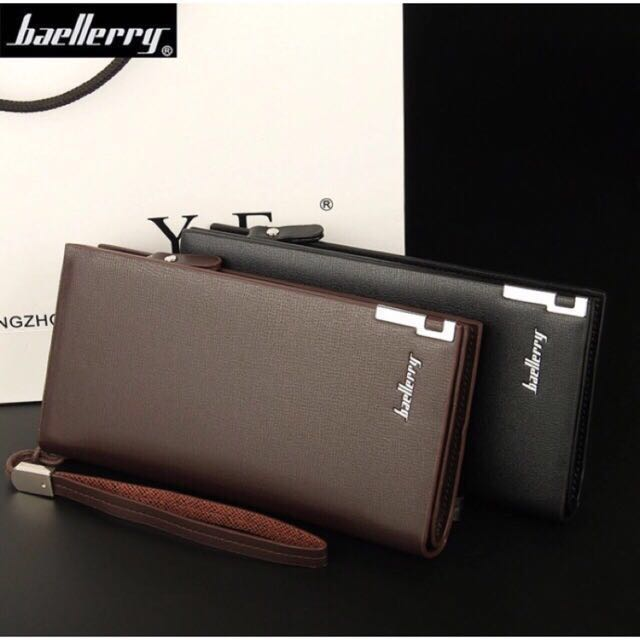 Baellerry Quality Fashion Business Wallet for Men Black & Brown
