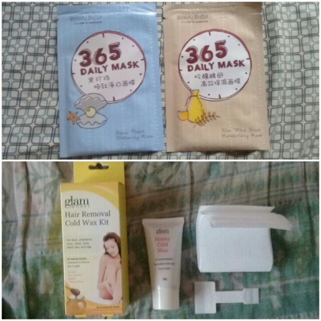 Beauty Buffet 365 Daily Mask And Glam Works Hair Removal Cold Wax