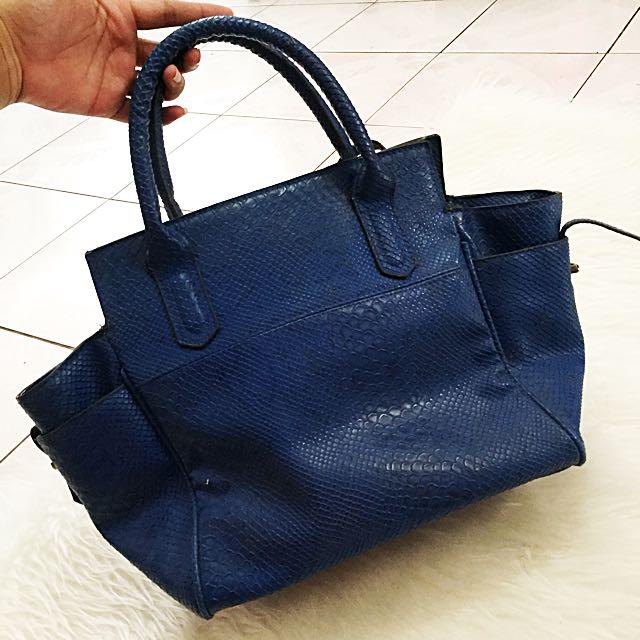 Birkin Blue Bag