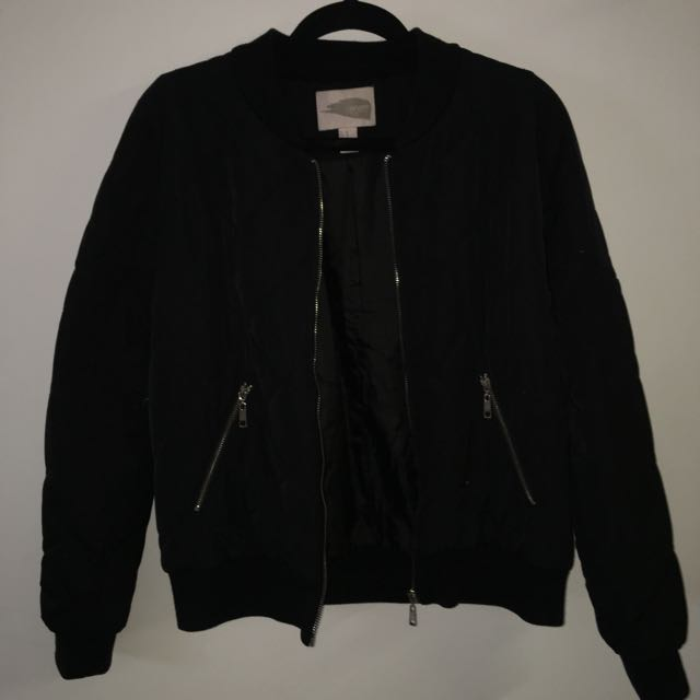 Black Bomber Jacket Size M