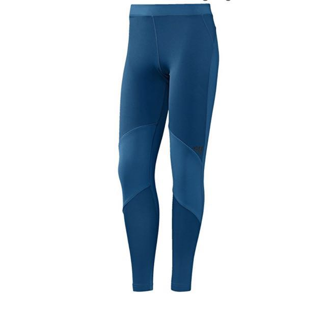 Blue Adidas Climawarm Leggings