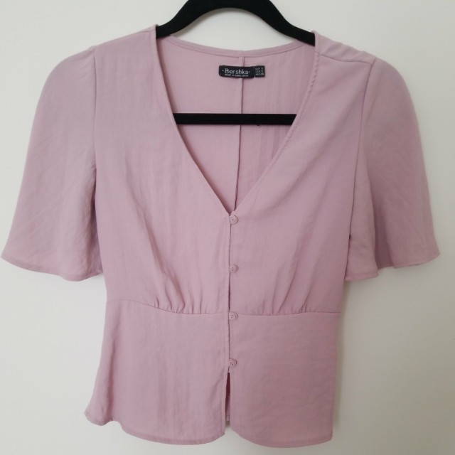 Blush pink blouse size small