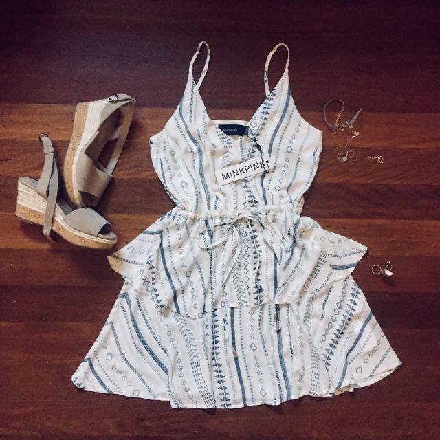 BNWT MINKPINK Layered Dress