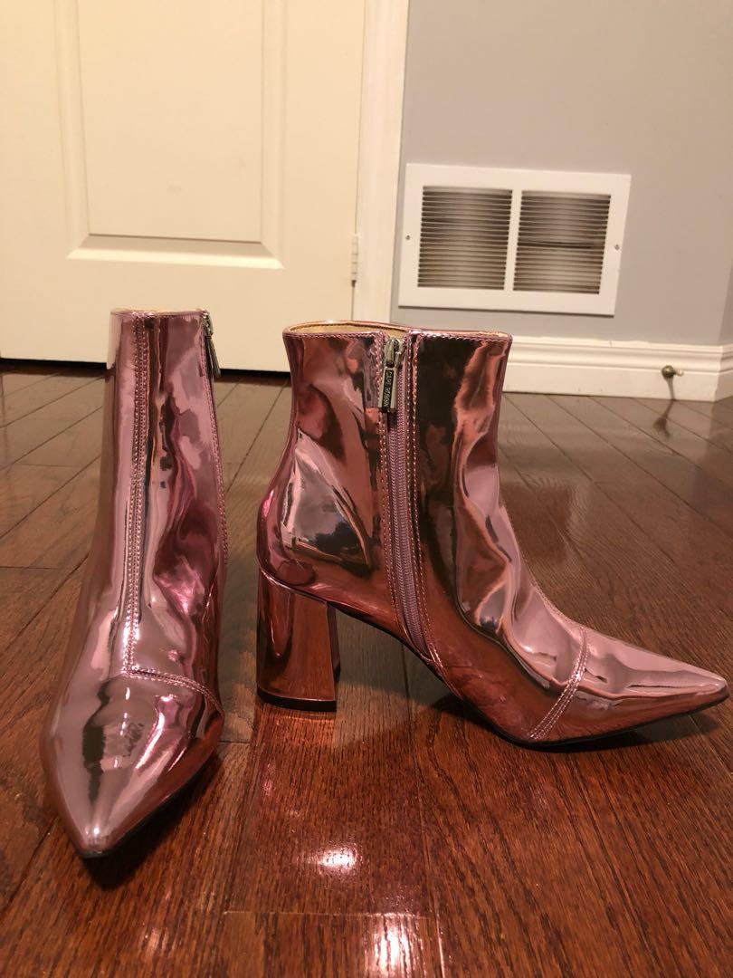 Brand new metallic pink boots
