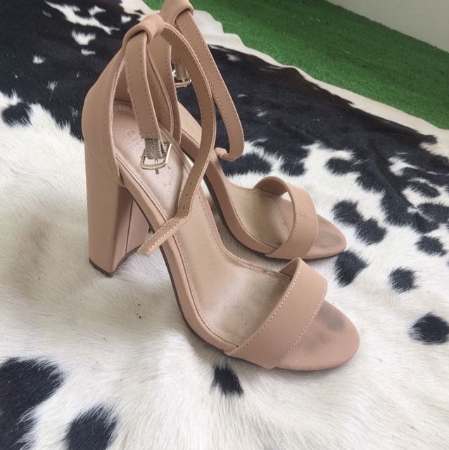 Camel Strappy Heels