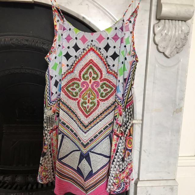 Camilla Silk top -Sz XS