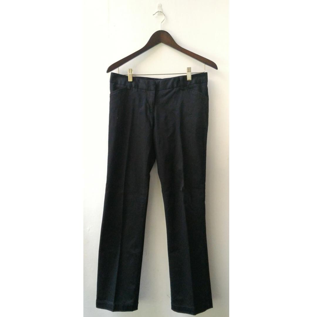 Celana Panjang Kain Hitam Polos Wanita The Executive Fesyen Wanita Pakaian Wanita Di Carousell