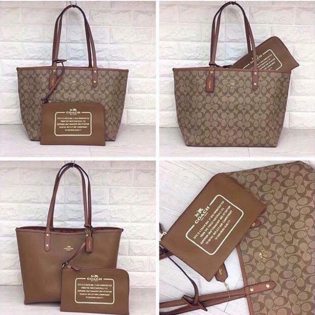 44632a3e0d6 ... buy coach reversible tote bag preloved womens fashion bags wallets on  carousell 2975c b0a1c