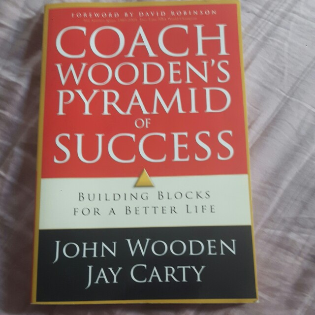 Coach Wooden Pyramid Of Success Books Stationery Fiction On