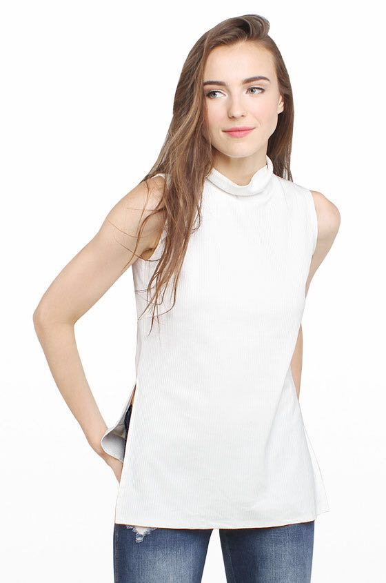 Cotton Ink - white turtle neck top