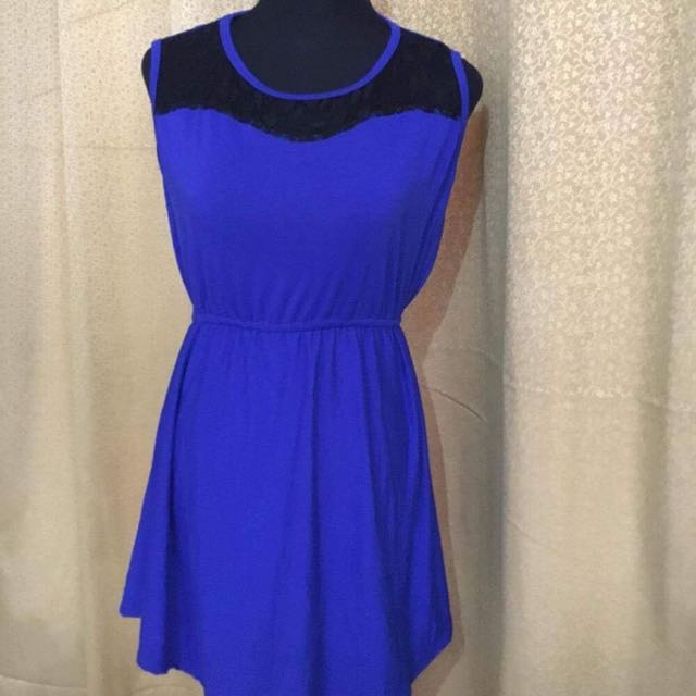 Cotton Stylish Blue Dress