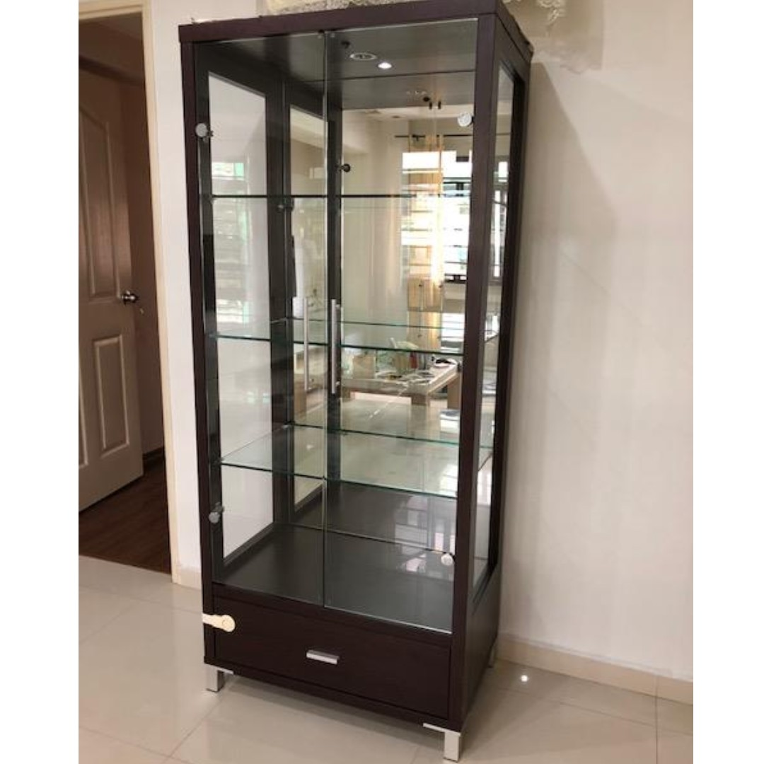 Display Cabinet With Glass Door Furniture Shelves Drawers On Carousell