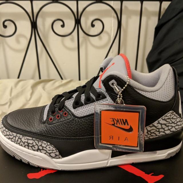 DS Jordan 3 black cement