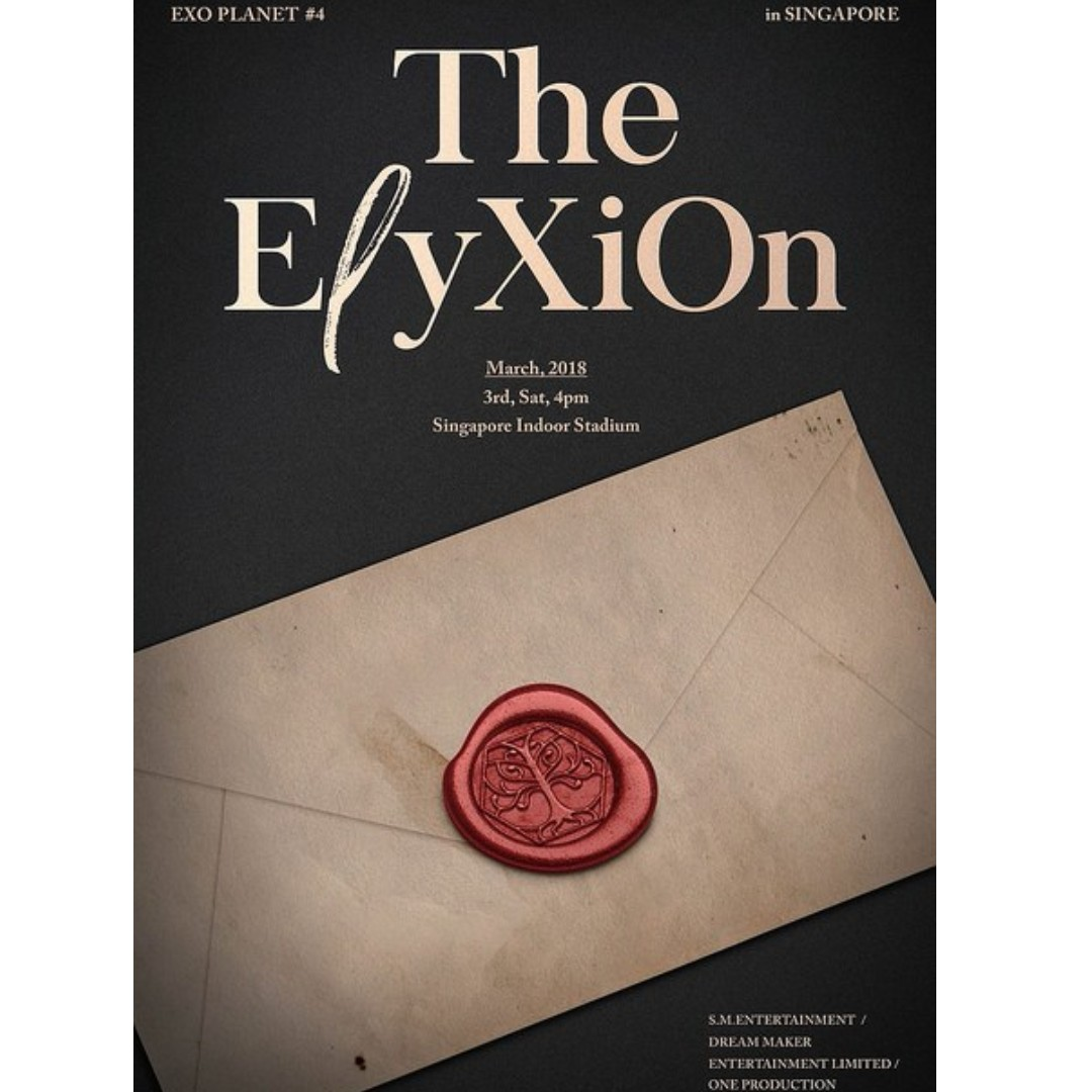 EXO PLANET #4; The Elyxion Singapore Cat3 - 2 tickets