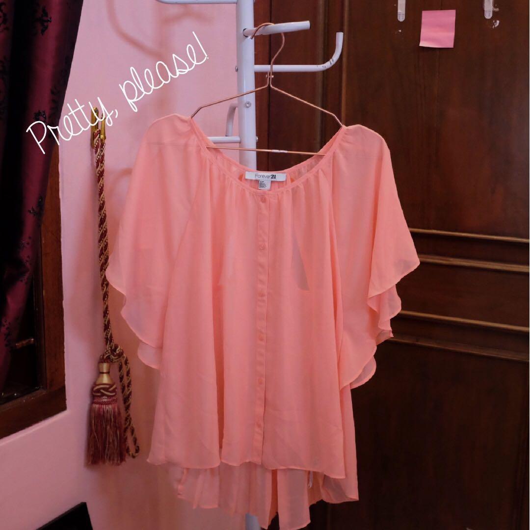 F21 peachy blouse