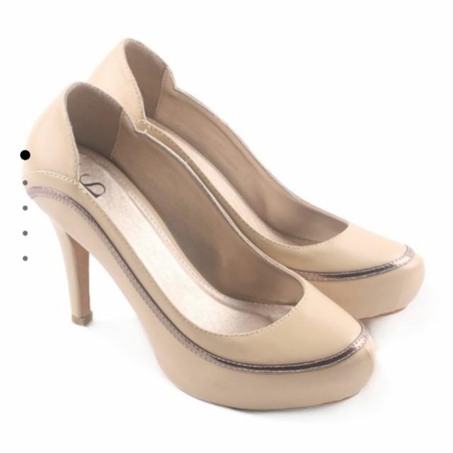 946a3843685 Farish Tamara Heels Colour Beige High Heel Branded Cream Sepatu Hak ...