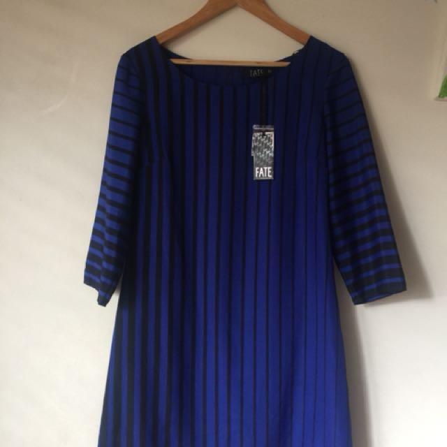 Fate blue stripe dress