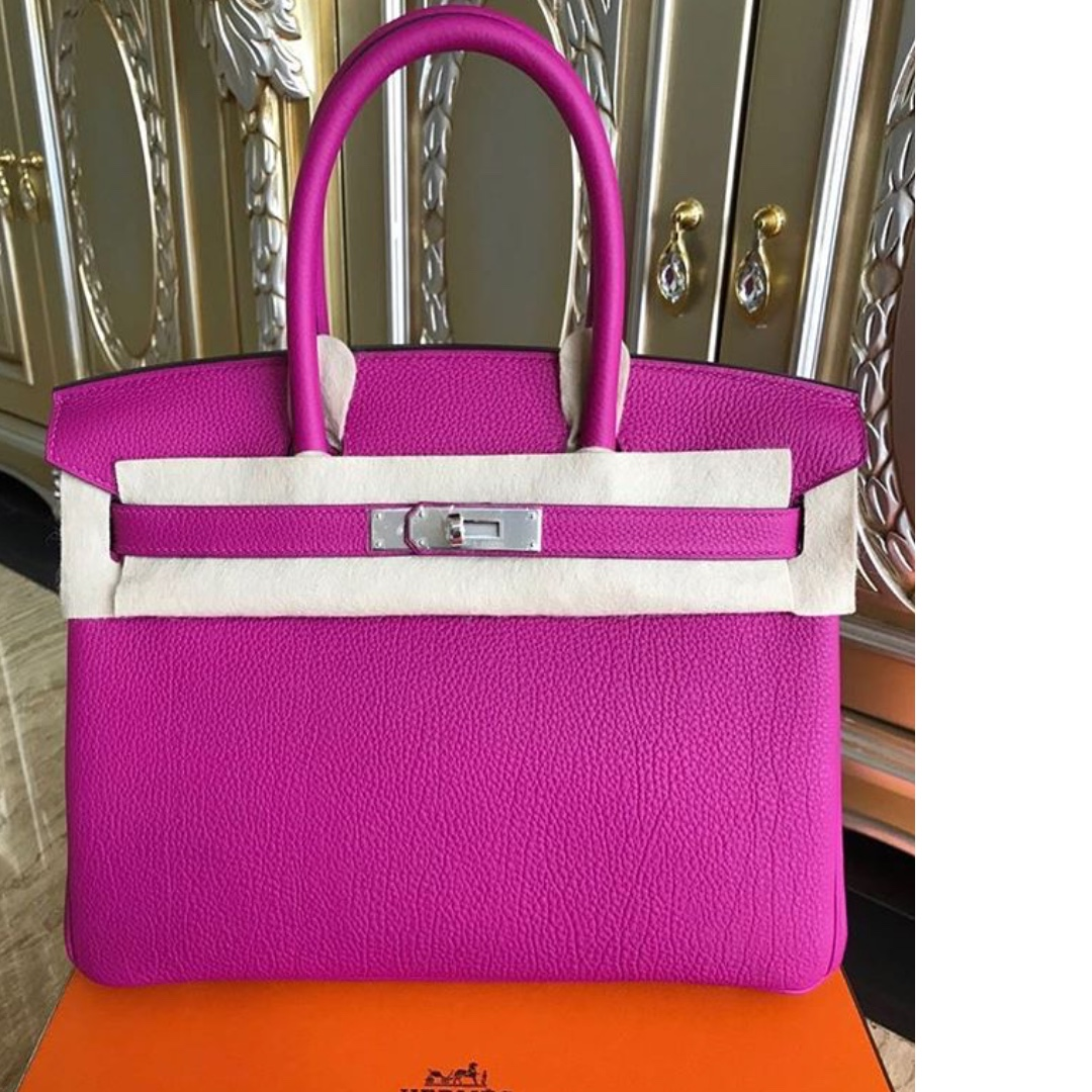 February 2018 Receipt Authentic Hermes Birkin 30 Rose Pourpre