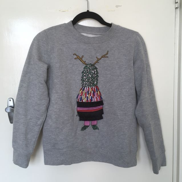 Festival Jumper Grey Marle with Emboidery
