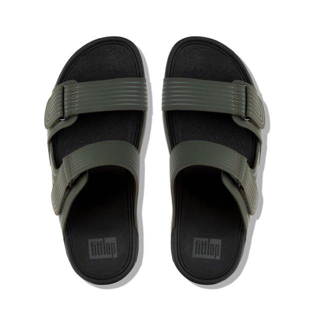 93edddec947f FitFlop Men s GOGH™ Moc Adjustable Pool Slide Sandals