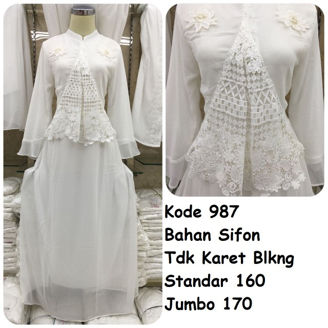 Gamis putih #987