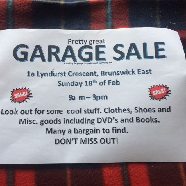 Garage Sale Today Feb 18th Till 3pm