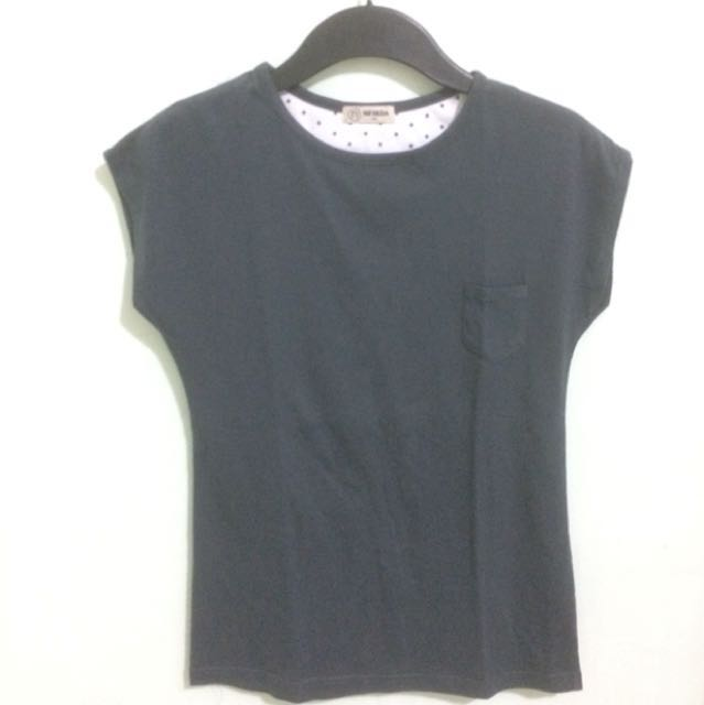 Gray T-Shirt with Small Pocket