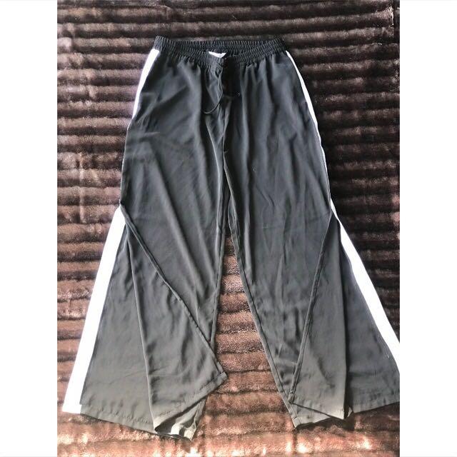 Highwaist sport stripe wide leg pants