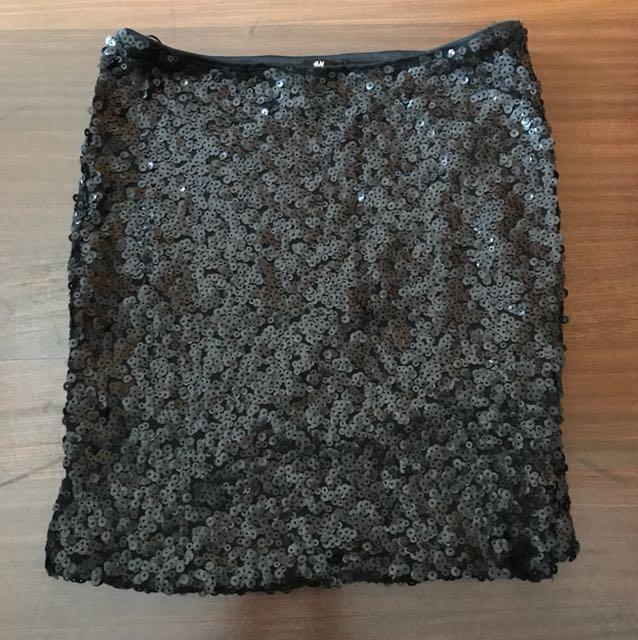 H&M sequin tube miniskirt