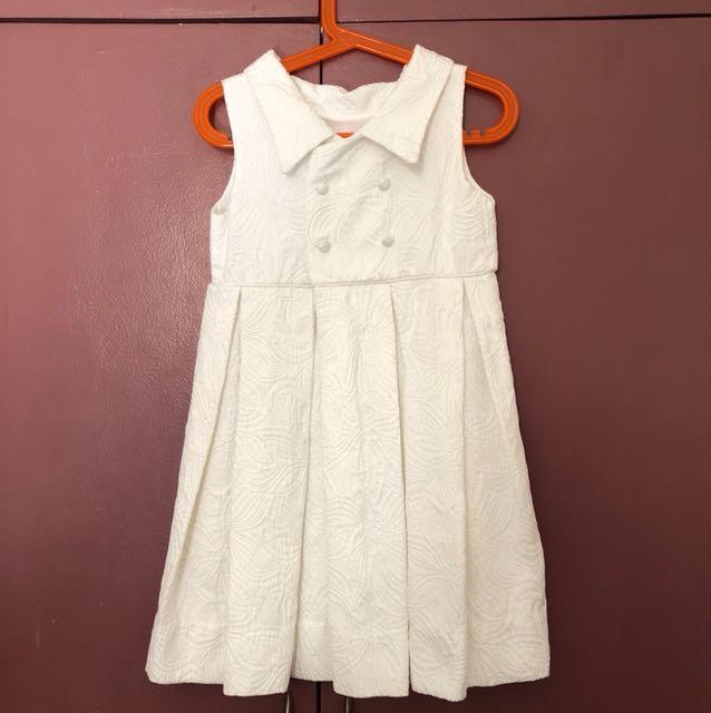 Ines Moda Infantil white reversible dress