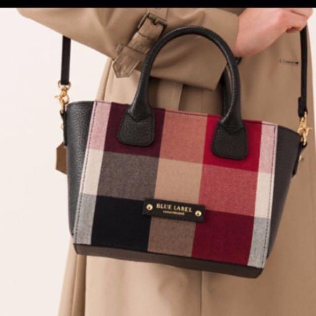 An Crestbridge Blue Label Crest Bridge Check Canvas Mini Tote Bag Women S Fashion Bags Wallets On Carou