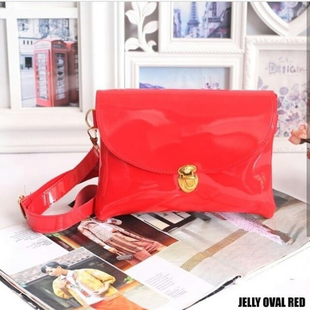 Jelly sling bag red