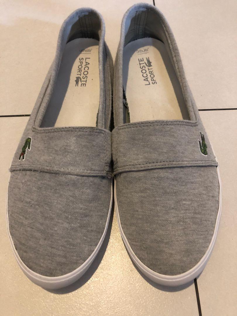 Lacoste slip on sneaker flats size 10