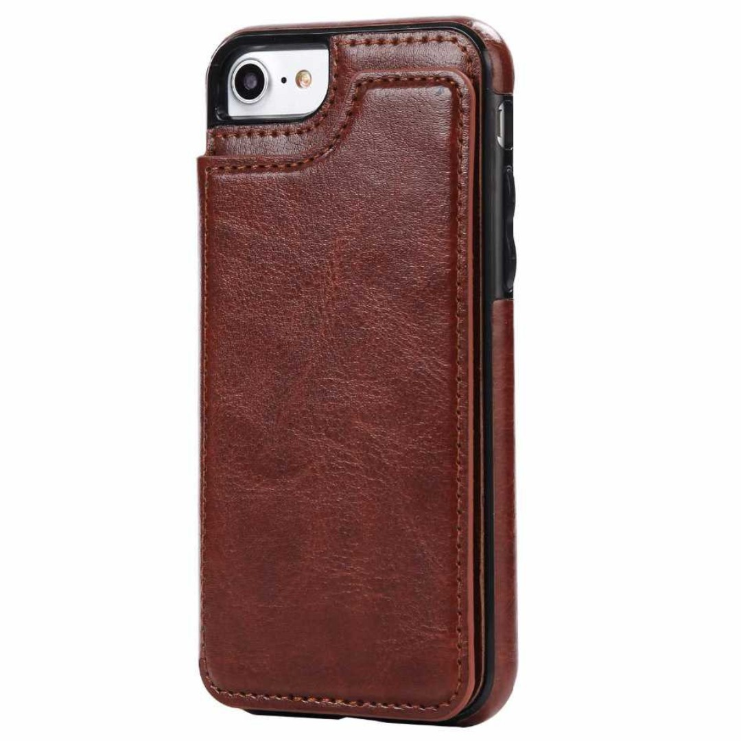 Leather Case with Mini Wallet for iPhone 7,8 & 7+,8+. 100gr.