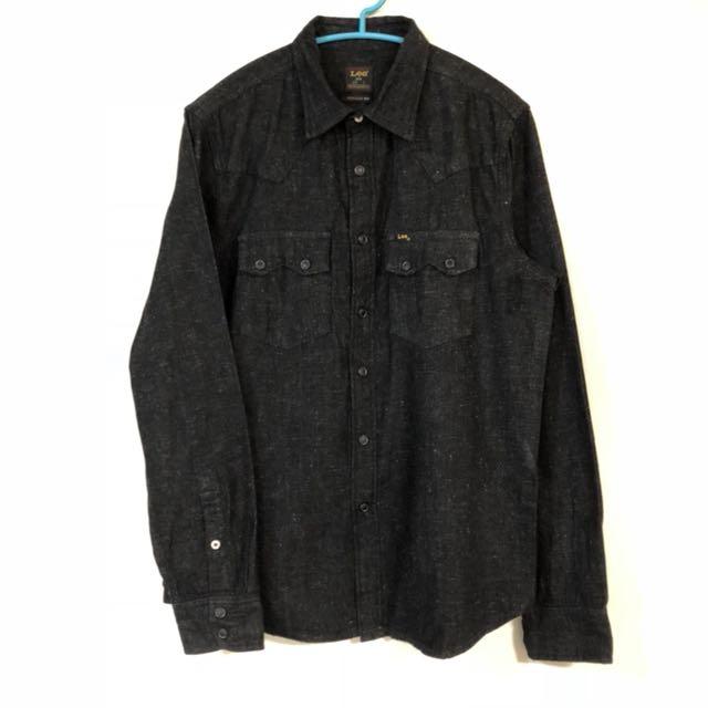 Lee jeans shirt 101 牛仔襯衫 雪花 深黑色 2月