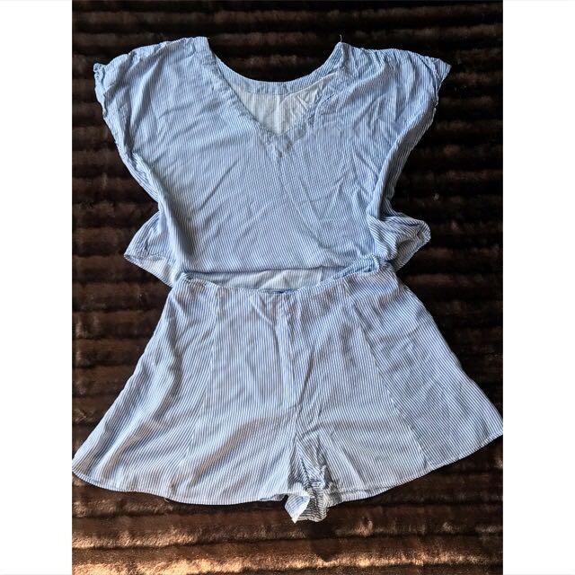 Linen Blend Shorts and Crop