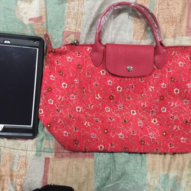 Longchamp floral bag