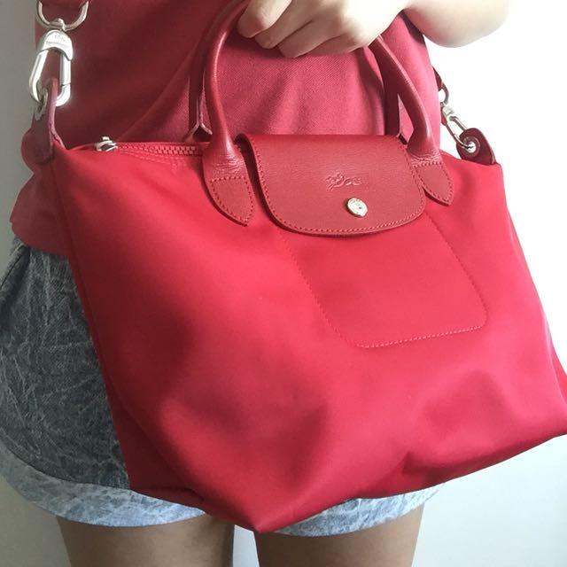 Longhamp Le Pliage medium (red)