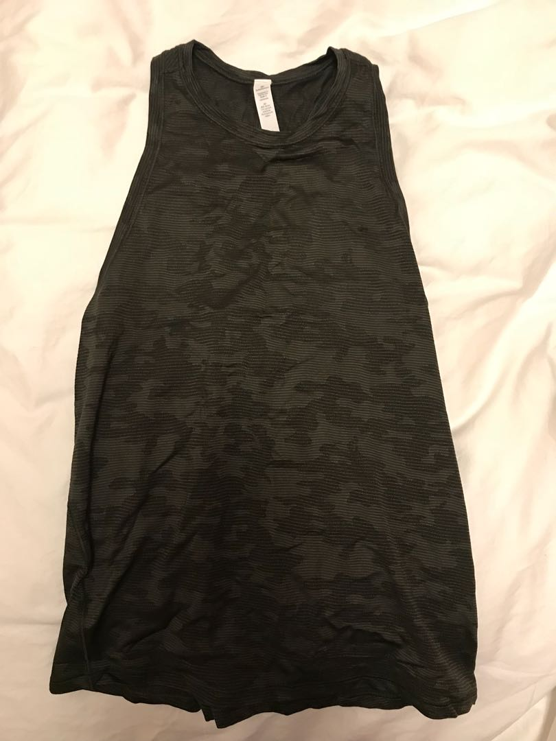Lululemon Army Tank with open back
