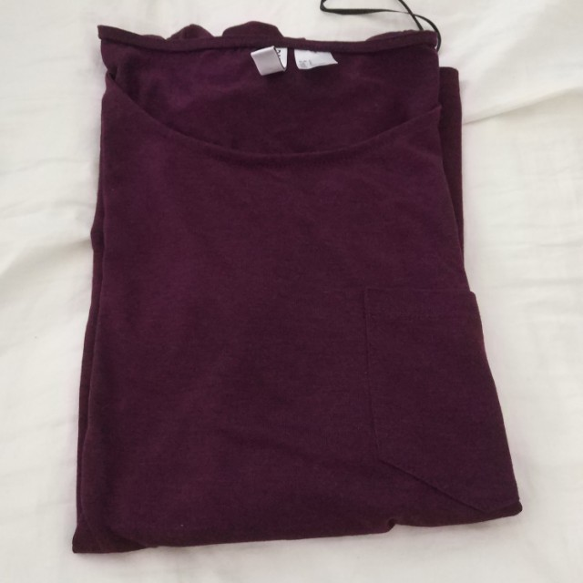 MAROON/PURPLE POCKET TEE